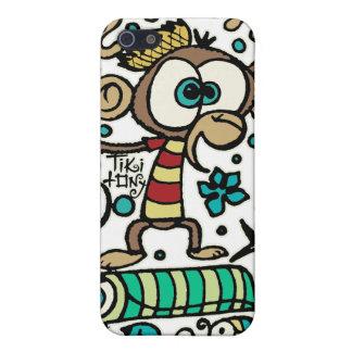 Mono y pájaros locos iPhone 5 fundas