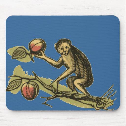 Mono y sus cocos tapete de ratones