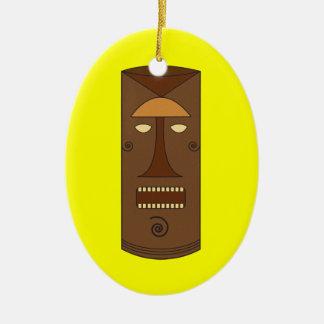 Monobrow Tiki Guy Ornament