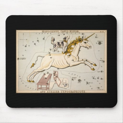 Monoceros Canis Minor and Atelier Typographique Mouse Pad