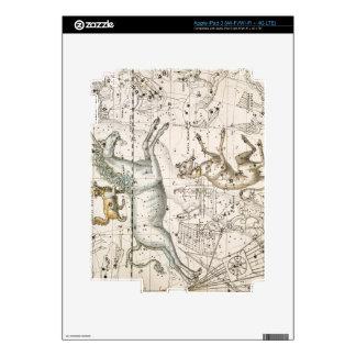"""Monoceros, """"de un atlas celestial"""", pub. en 1822 pegatina skin para iPad 3"""