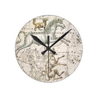 Monoceros, from 'A Celestial Atlas', pub. in 1822 Round Wall Clocks