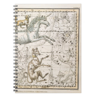 Monoceros, from 'A Celestial Atlas', pub. in 1822 Spiral Note Book