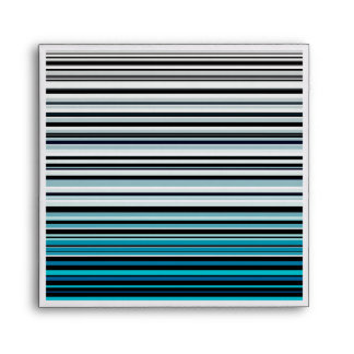Monochromatic and blue accented horizontal lines envelope