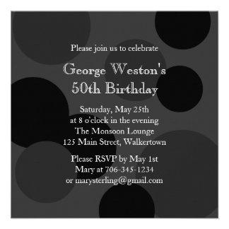 Monochromatic Birthday Invitation