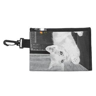 "Monochromatic ""black and white"" stylish white cat accessory bags"