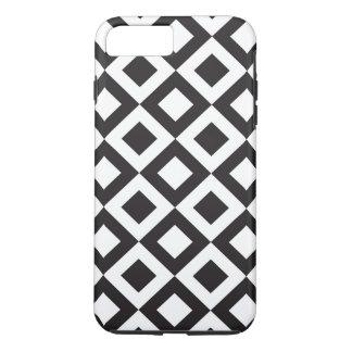 Monochromatic Black Diamond Pattern iPhone 8 Plus/7 Plus Case