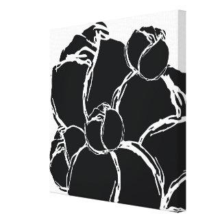 Monochromatic Bloom Canvas Prints