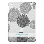 Monochromatic  Flowers Illustration Pattern Case For The iPad Mini