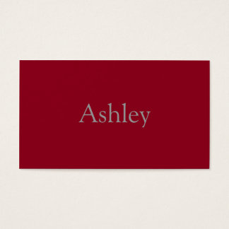 Monochromatic in Cranberry Business Card
