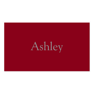 Monochromatic in Cranberry Double-Sided Standard Business Cards (Pack Of 100)