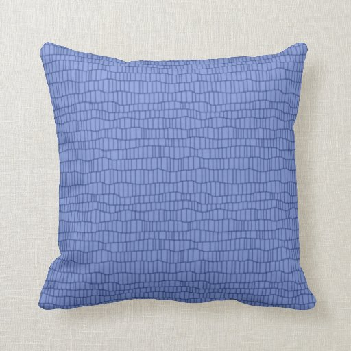 Periwinkle Blue Throw Pillow : Monochromatic periwinkle blue accent pillow