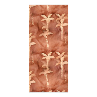Monochromatic Tie-Dye Palm Tree Motif Magnetic Card