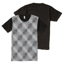 Monochromatic Weave All-Over-Print T-Shirt
