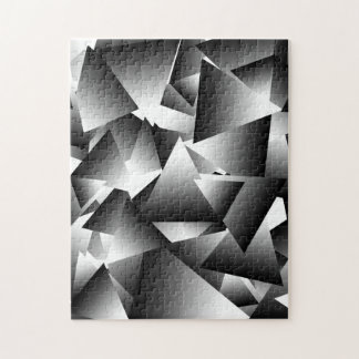 Monochrome Abstract Triangles Fashion Pattern Puzzle