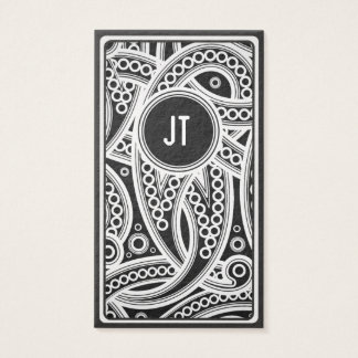 Monochrome African Pattern Business Card