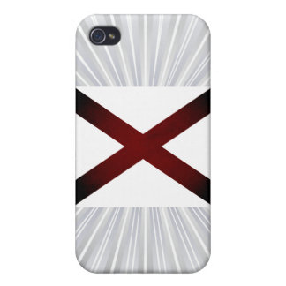 Monochrome Alabama Flag iPhone 4/4S Case