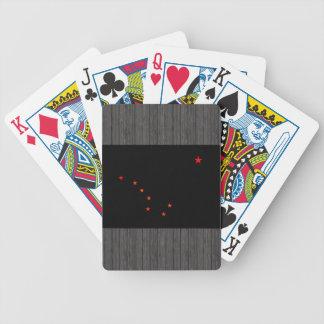 Monochrome Alaska Flag Bicycle Playing Cards