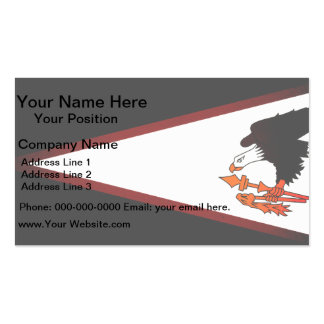 Monochrome American Samoa Flag Double-Sided Standard Business Cards (Pack Of 100)