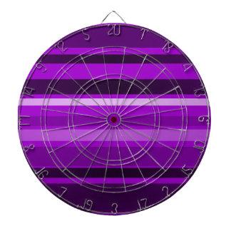 Monochrome and Purple Stripes Dart Board