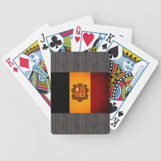 Monochrome Andorra Flag Bicycle Playing Cards