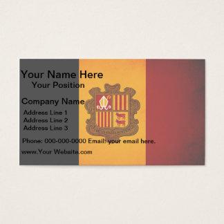 Monochrome Andorra Flag Business Card