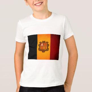 Monochrome Andorra Flag T-Shirt