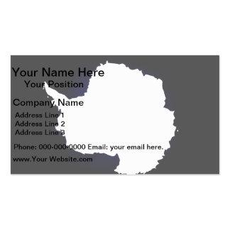 Monochrome Antarctica Flag Business Card Template