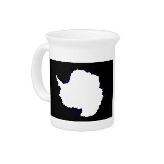 Monochrome Antarctica Flag Drink Pitcher