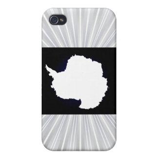 Monochrome Antarctica Flag iPhone 4/4S Covers