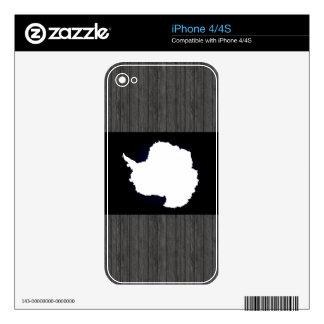 Monochrome Antarctica Flag iPhone 4S Skins