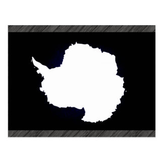 Monochrome Antarctica Flag Postcards