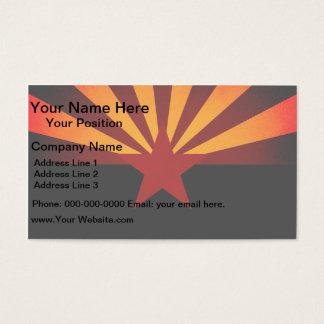 Monochrome Arizona Flag Business Card