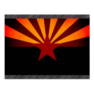 Monochrome Arizona Flag Postcards