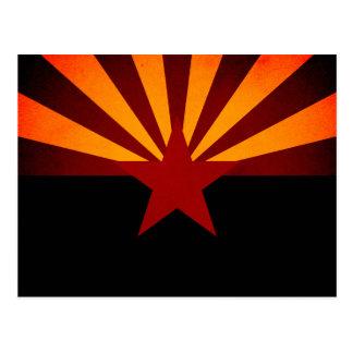 Monochrome Arizona Flag Postcard