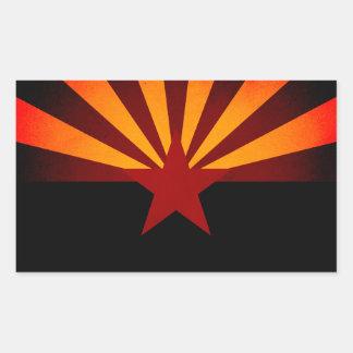 Monochrome Arizona Flag Rectangular Sticker