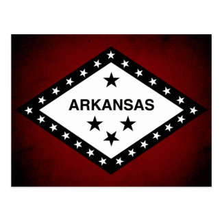 Monochrome Arkansas Flag Postcard