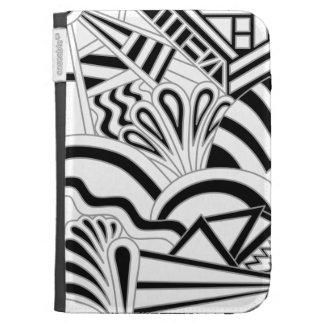 Monochrome Art Deco Design Kindle Covers