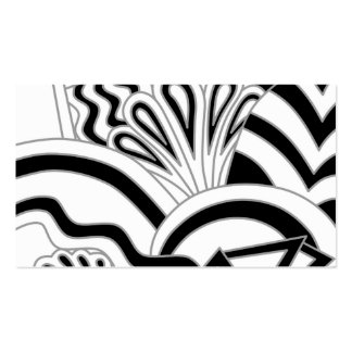 Monochrome Art Deco Design. Double-Sided Standard Business Cards (Pack Of 100)