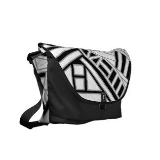 Monochrome Art Deco Design. Courier Bags