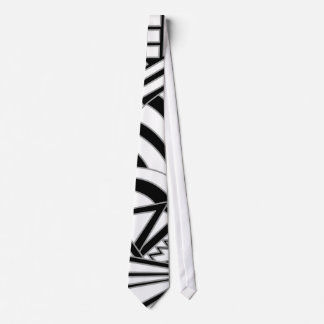 Monochrome Art Deco Design. Tie