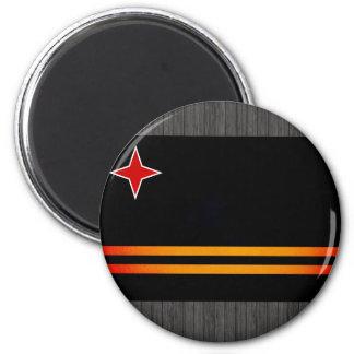 Monochrome Aruba Flag Refrigerator Magnet
