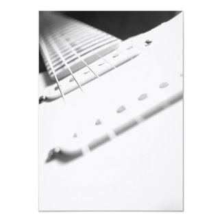 Monochrome B&W Electric Guitar Close-Up 2 Card