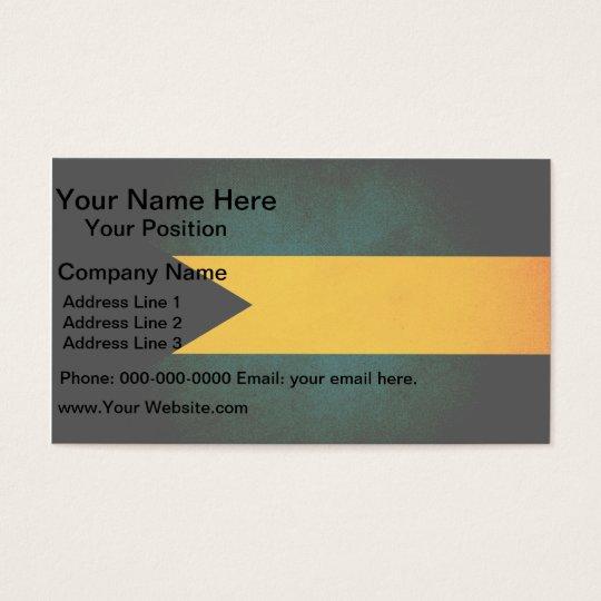 Monochrome Bahamas Flag Business Card