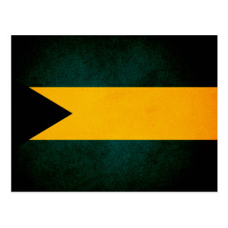Monochrome Bahamas Flag Postcard