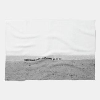 Monochrome Beach Hand Towels