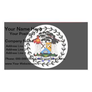 Monochrome Belize Flag Business Cards