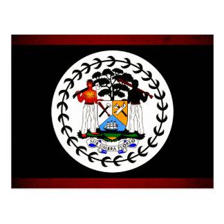 Monochrome Belize Flag Postcard