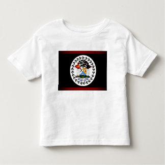Monochrome Belize Flag Toddler T-shirt