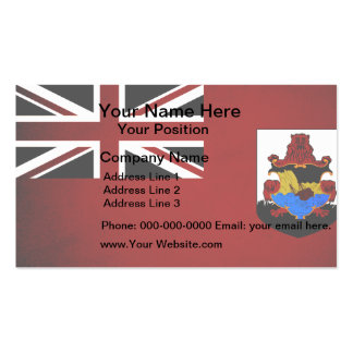 Monochrome Bermuda Flag Business Card